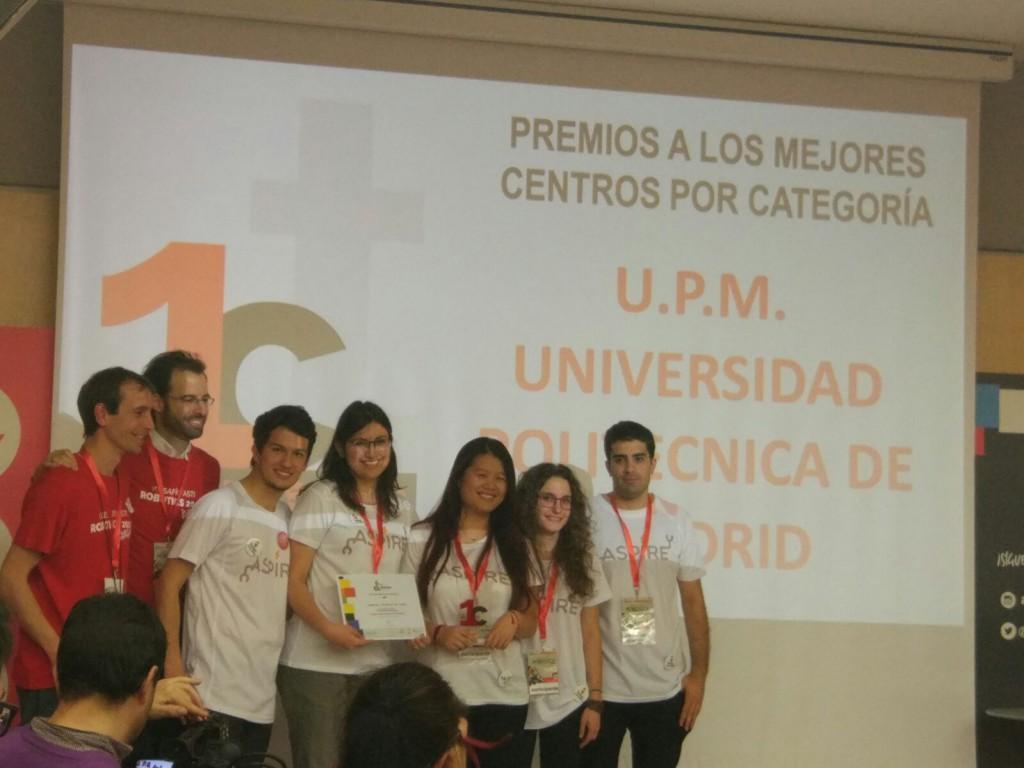 El equipo del Máster Universitario en Automática y Robótica de la Universidad Politécnica de Madrid